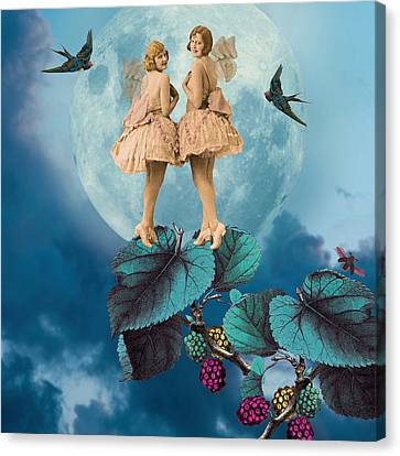 Blue Moon Canvas Print by Olga Snell
