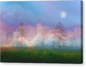 Blue Moon Canvas Print by Ron Jones