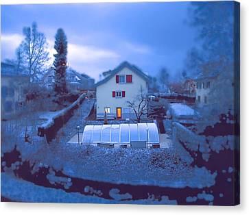 Blue Morn Canvas Print by Chuck Shafer
