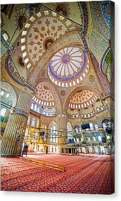 Blue Mosque Interior Canvas Print by Artur Bogacki