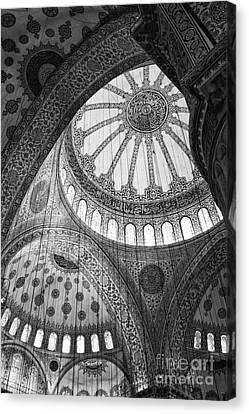 Blue Mosque Canvas Print by Leslie Leda