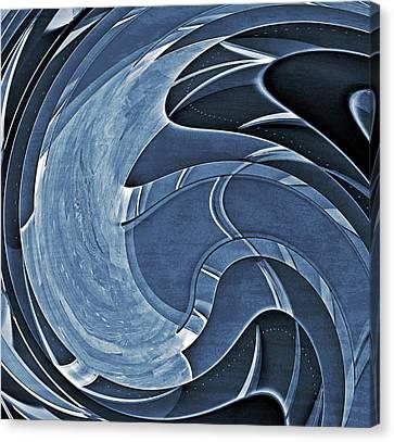 Blue Motion Canvas Print by Susan Leggett