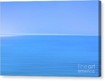 Blue Ocean Blur Canvas Print by Randy Steele