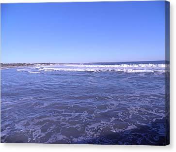 Blue Ocean Canvas Print by Kate Gallagher