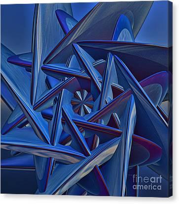 Blue On Blue Canvas Print by Deborah Benoit