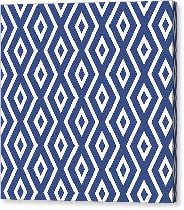 Blue Pattern Canvas Print by Christina Rollo