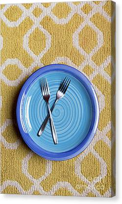 Blue Plate Special Canvas Print by Edward Fielding
