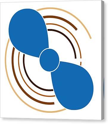 Blue Propeller Canvas Print by Frank Tschakert