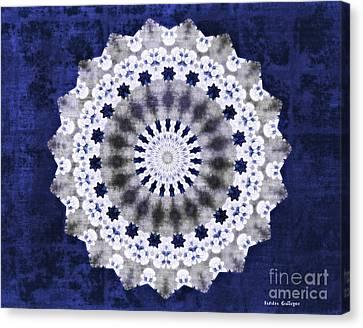 Blue Ribbon Mandala Canvas Print by Sandra Gallegos