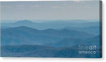 Blue Ridge Mountains Of North Carolina Canvas Print by Dustin K Ryan