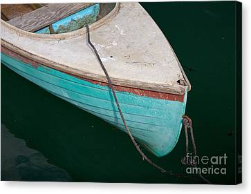 Blue Rowboat 1 Canvas Print by Susan Cole Kelly