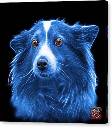 Blue Shetland Sheepdog Dog Art 9973 - Bb Canvas Print by James Ahn