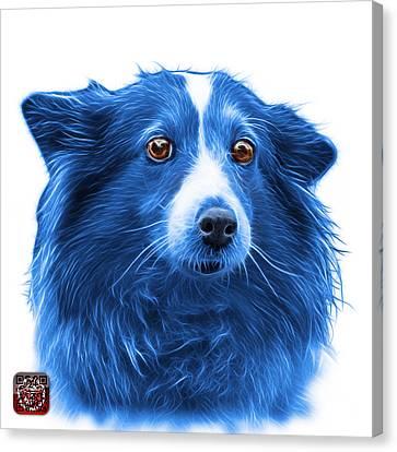 Blue Shetland Sheepdog Dog Art 9973 - Wb Canvas Print by James Ahn