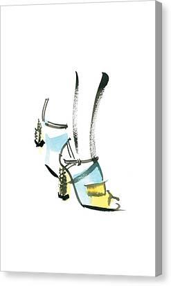 Blue Shoe Canvas Print by Carl Griffasi