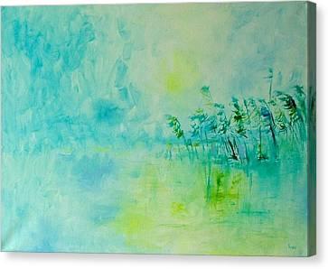 Blue Silence Canvas Print by Demeter Gui