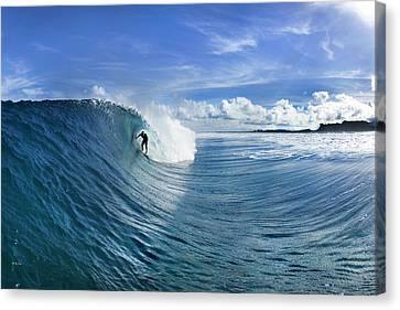 Blue Sling Canvas Print by Sean Davey