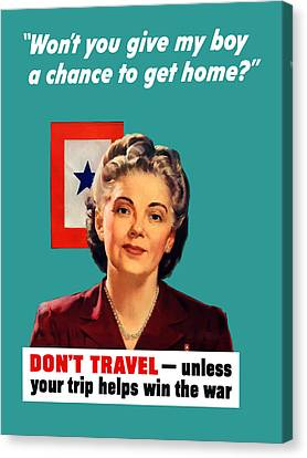 Blue Star Mother -- Ww2 Canvas Print by War Is Hell Store