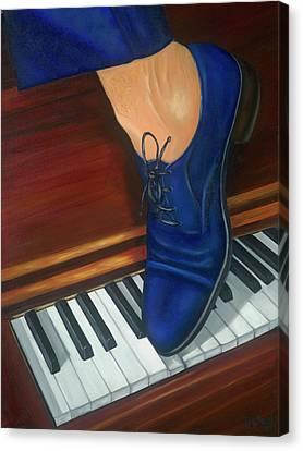 Blue Suede Shoes Canvas Print by Marlyn Boyd