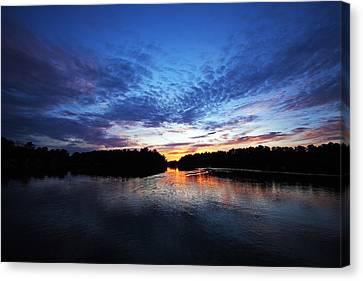 Blue Sunset Canvas Print by Ty Helbach