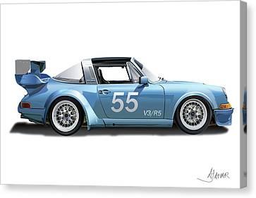 Blue Targa Canvas Print by Alain Jamar