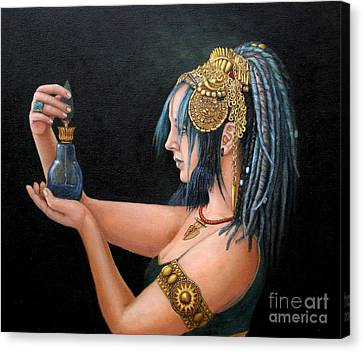 Blue Tribe Canvas Print by Enzie Shahmiri