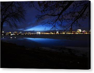 Blue Twilight Over The Charles River Canvas Print by Toby McGuire