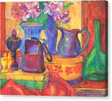 Blue Velvet Canvas Print by Blenda Studio