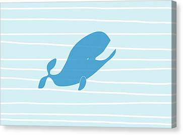 Blue Whale Canvas Print by Frank Tschakert