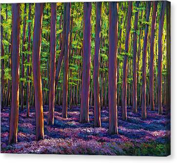 Bluebells And Forest Canvas Print by Johnathan Harris