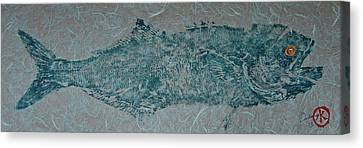 Bluefish - Chopper- Aligator Blue - 2 Canvas Print by Jeffrey Canha