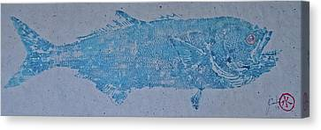Bluefish - Chopper- Aligator Blue - Canvas Print by Jeffrey Canha