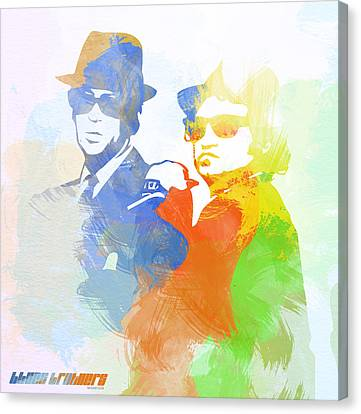 Blues Brothers Canvas Print by Naxart Studio