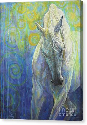 Blues Fighter Canvas Print by Silvana Gabudean
