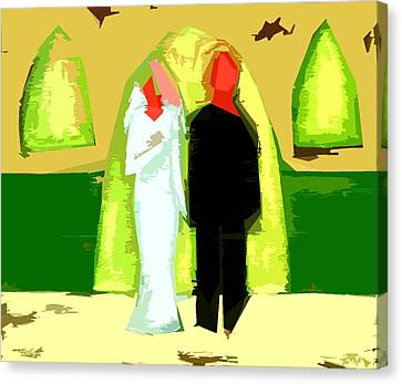 Blushing Bride And Groom 2 Canvas Print by Patrick J Murphy