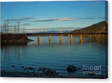 Bnsf Bridge Canvas Print by Idaho Scenic Images Linda Lantzy
