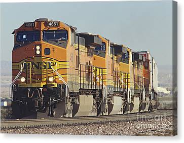 Bnsf Freight Train Canvas Print by Richard R Hansen and Photo Researchers