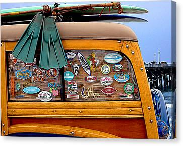 Boards And Woodie Canvas Print by Ron Regalado