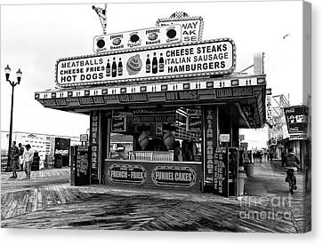 Boardwalk Comfort Mono Canvas Print by John Rizzuto