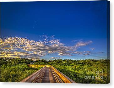 Boardwalk Sunset Canvas Print by Marvin Spates