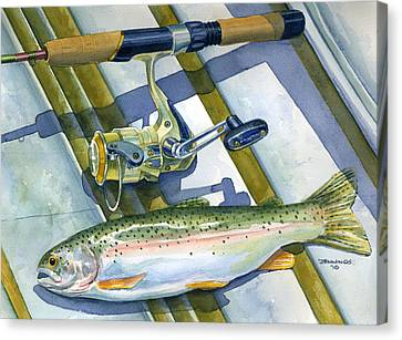 Boat Bottom Trout Canvas Print by Mark Jennings