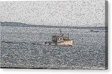 Boat City  Canvas Print by Roger Charlebois