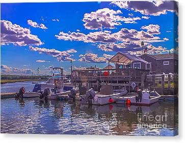 Boat Club In Hampton Canvas Print by Claudia M Photography