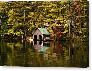 Boat House Canvas Print by David Simons