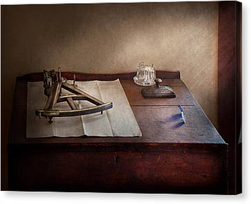 Boat - The Joy Of Sextant Canvas Print by Mike Savad