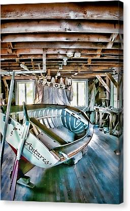 Boathouse Canvas Print by Heather Applegate