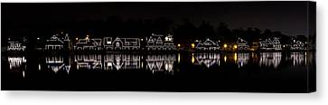 Boathouse Row Panorama - Philadelphia Canvas Print by Brendan Reals