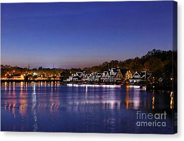 Boathouse Row Philly Canvas Print by John Greim