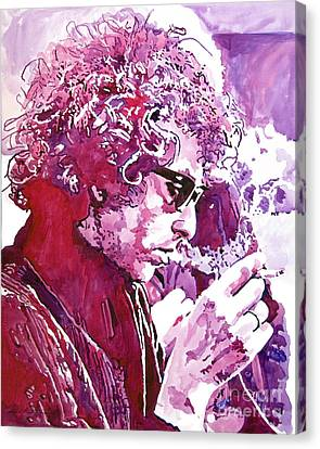 Bob Dylan Canvas Print by David Lloyd Glover