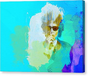 Bob Dylan Canvas Print by Naxart Studio