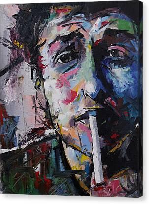 Bob Dylan Canvas Print by Richard Day